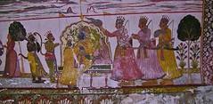 INDIEN, historisches Orchha, Raja Mahal paintings ,  14081/6926 (roba66) Tags: travel india tourism painting reisen colorful asia asien urlaub visit historic peinture explore indien inde voyages wandmalerei orchha northernindia tikamgarh rajamahal pradesh roba66 madhya indiennord rajatempel indienhistorischesorchha
