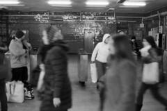 Metro - Ukraine, Kiev (Analog World Thru My Lenses) Tags: ukraine kiev ricohxr7 rikenon50mmf14 kodak400tx metro subway tube underground