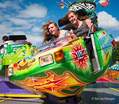 Crazy Ride 2 (Bart van Hofwegen) Tags: girls girl fun funfair attraction ride fairground summer colors colours laugh laughing smile colorful colourful leicaq youngsters excitement exciting