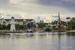 Disney Transportation (Aunesty Janssen-Reikofski) Tags: boat lake lighthouse water disney resort hotel transporation