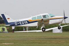 D-EGYA - 1977 build Beech C23 Sundowner 180, departing from Tannheim during Tannkosh 2013 (egcc) Tags: degya tannheim edmt tannkosh 2013 beech beechcraft be23 beech23 sundowner musketeer m1923
