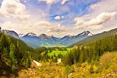Panoramic View, Impressive Summits... (Julian P_) Tags: blue panorama sun green nature nikon outdoor hiking air ehrwald summit zugspitze zugspitzarena d5300