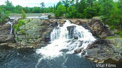 (Vital Films1) Tags: highfalls bracebridge ontario hwy11 water muskoka trees waterfall djiphantom3 drone cameradrone birdseyeview overhead airbourne phantom3