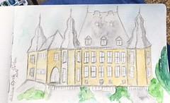 Schloss Dyck I (loulila71) Tags: schlossdyck jchen park garten ferien watercolor aquarell watercolour urbansketch