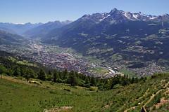 Val d'Aosta - Valle Centrale: Thouraz, Aosta e l'Emilius (mariagraziaschiapparelli) Tags: valdaosta aosta thouraz allegrisinasceosidiventa camminata escursionismo estate