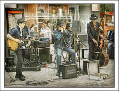 INTERCITY BLUES BAND (Derek Hyamson) Tags: hdr candid intercitybluesband liverpool churchstreet
