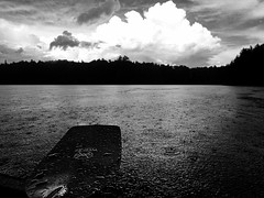 It's Sunny Somewhere (Mountain Visions) Tags: adk stillwaterreservoir adirondacks paddling canoeing canoe olympus tg4 oldtown penobscot werner bandit carbon clouds stor rain bw blackandwhite whiteandblack monochrome beaverriverflow stillwater