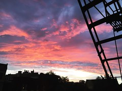 cotton candy sky (ekelly80) Tags: dc washingtondc july2016 summer sky night clouds pink colors light sunset sunlight view fireescape ladder eveninglight sun