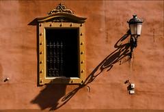 Andalusian Window Art (lunaryuna) Tags: spain andalusia granada urban city architecture window wall terracotta llantern shadow windowswednesday colour lunaryuna