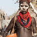 Karo woman with calabash