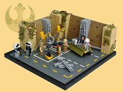 Yavin IV - Rebel workshop (Disco86) Tags: lego star wars rebel garage yavin 4 iv new hope carrier hangar ruin temple
