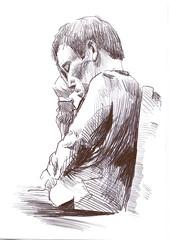 Eric (JENS01) Tags: zeichnung kohle papier bleistift drawing sketching painting malerei skizze sketchbook art kunst graphite pencildrawing paperwork urban doodle l oil tusche portrait