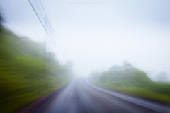 Driving through Scotland (Premysl Fojtu) Tags: scotland uk 2016 argyll landscape different road roadtrip roadside blurred motion driving fog mist wet daytime nd filter 32x dslr canon eos 5dmkii fullframe ef1740 wideangle movement green countryside country rural longexposure