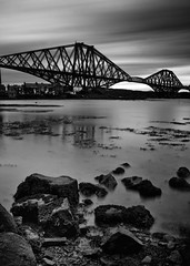 Forth Rail Bridge (PeskyMesky) Tags: forthrailbridge forth firthofforth flickr edinburgh scotland longexposure le monochrome bw blackandwhite bridge canon canoneos500d pov pointofview