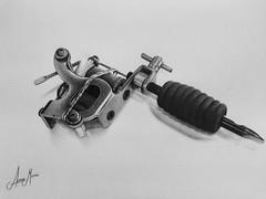 Tattoo machine (Alisson Mattos) Tags: realismo realista desenho sketch tattoo ilustrao illustration tatuagem b arte art drawing draw
