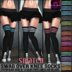 Sn@tch Swag Over Knee Socks Vendor Ad LG (Tess-Ivey Deschanel) Tags: sntch snatch secondlife sl second sexy style specials new newrelease newreleases summer costumes latex lingerie clothing clothes clubwear cyberpunk corset couture fashion fatpack fall mesh model meshclothing meshclothes models iveydeschanel ivey ihearts omegasystem outfits omega omegaappliers