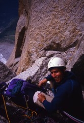 At the Jammed Block (andywalker1) Tags: andrewwalker americandirect dru petitdru chamonix alps alpineclimbing