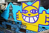 Urban art wall (Alice 2017) Tags: wall art blue yellow street summer sony a6000 stair city 2016 jena flektogon20mmf28 20mmf28 carlzeiss zeiss ilce6000 emount architecture building manuallens adaptor hongkong asia m42 wideangle 500v20f colorsofthesoul aatvl01 vintage