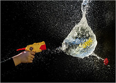 Water balloons demise (beninfreo) Tags: water balloon bomb highspeed freeze motion toy canon australia 5diii fremantle frozen