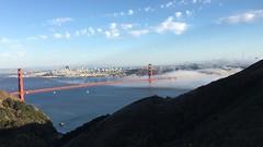 Karl, the San Francisco Fog at the Golden Gate Bridge (Joseph W Ling) Tags: sanfrancisco goldengatebridge karlthefog karl fog scenery landscape bridge water bay bayarea cloud blue