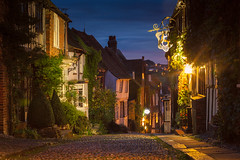 Mermaid Street (JamboEastbourne) Tags: mermaid street rye east sussex england nightime twilight old