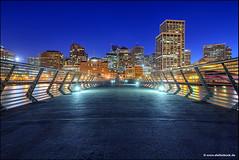 Pier 14 San Francisco (Stefan Bock) Tags: usa sanfrancisco california kalifornien pier14 pier skyline bluehour blauestunde architecture architektur unitedstatesofamerica