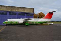 HB-IYS Avro RJ100 Cranfield 22/10/16 (David K- IOM Pics) Tags: hb hbiys avro rj100 rj1h rj swr swiss airlines cranfield stored bae british aerospace