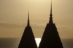 Contrasts (fxdx) Tags: contrasts golden hour light sea architecture lf1 tenerife spain