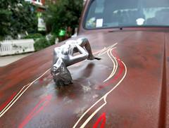 Back Flip (Georgie_grrl) Tags: hoodornament decorative truck hood classic pinstriping backflip arched woman figure kensingtonmarket toronto ontario hoodornamentyoga thankskat