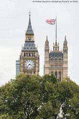 Palace of Westminster Update (DSC07936-Edit-2-Edit) (Michael.Lee.Pics.NYC) Tags: london england unitedkingdom palaceofwestminster housesofparliament architecture bigben flag unionjack royalhorseguards 2016 sony a7rm2 fe70300mmg
