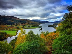 The Queens View, Loch Tummel, Perthshire. October 2016. (Jen_wilsonphotography) Tags: iphone scotland autumn view forest loch perthshire pitlochry queensview lochtummel