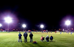 Dedication (diffuse) Tags: soccer football night cold outdoor artificiallight watching supporting