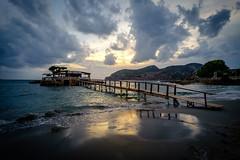 October in the mediterranean (Mallorca) (el vuelo del escorpin) Tags: fuji xe2 1024 mediterranean mediterrneo mar sea baleares balearicislands mallorca sunset aterdecer blue