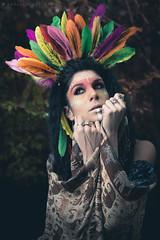 Aztec_2 (gabri.R) Tags: model moda modella fashion fashionportrait portrait ritratto ritrattomoda aztec azteca piume plumage makeup trucco strobist godoxad360 ruin rovine femalemodel female girl ragazza azteco aztecportrait