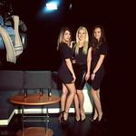 Maja, Patricija in Slavica na snemanju v studiu Pop tv.