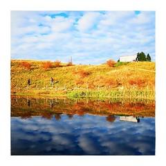 Haute-Savoie (France) (Fabio Pinna) Tags: instagramapp square squareformat iphoneography uploaded:by=instagram sunset paesaggio reflet water lac lake mountain landscape france coucherdesoleil alps autumn hautesavoie