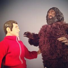 Six Million Dollar Battle (WEBmikey) Tags: toys sixmilliondollarman smdm bigfoot mego bifbangpow