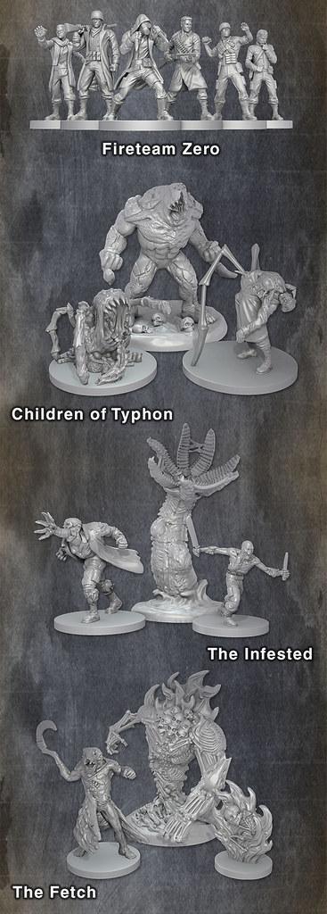 Figurines - Kickstarter Fireteam Zero