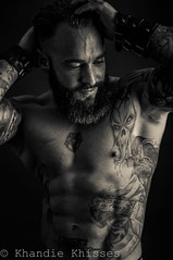 Mike (Khandie Khisses) Tags: portrait mike muscles beard 50mm nikon loco wrestler textured tailoring inked tattooed