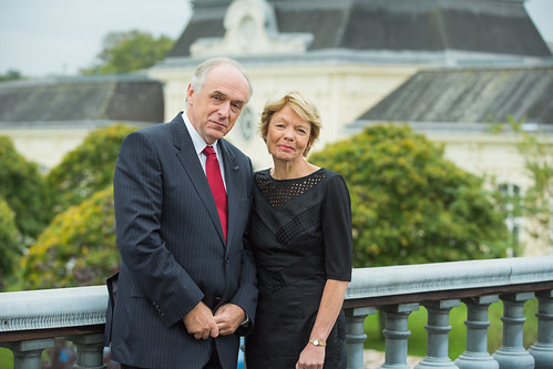 Professor Dr. Pavel Kabat, Director General and CEO, IIASA and Mrs Anneke Kabat-Geselschap