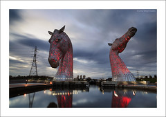 REDDER (SwaloPhoto) Tags: sculpture clouds zeiss canon reflections scotland canal shadows availablelight pylon ze falkirk gloaming forthclyde andyscott leefilters distagont2821 eos5dmkii thekelpies distagon2128ze helixpark