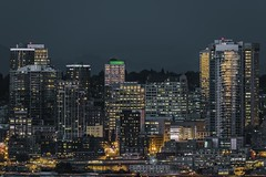 Glass Houses & Concrete Streets (Pedalhead'71) Tags: seattle cityscape nightscape noctography