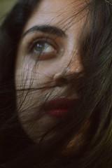 Flightless Bird (Pharheen) Tags: red portrait india girl closeup hair eyes lips lipstick