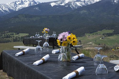 Triple Creek Ranch Spring Vintner Event - mountaintop gourmet barbecue picnic