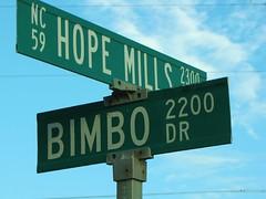 Bimbo Dr (Gerry Dincher) Tags: hopemills cumberlandcounty northcarolina northcarolinahighway59 hopemillsroad fayetteville bimbodrive 2200 2300 59 nchighway59 nc59 bimbo funny gerrydincher