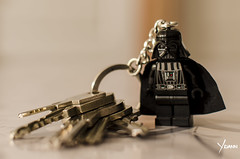 Darth Vader is the best anti-theft device... (Yoann!) Tags: star la key lego des ring darth porte wars vader minifigs guerre clefs etoiles minifigure vador minifigures cls minifigurine legography