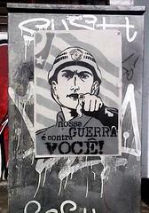stencil poster (bing0ne) Tags: street city art arte militar urbana paulo pm so polcia stncl represso bngo