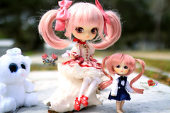 Safe With Me (dreamdust2022) Tags: baby cute girl loving happy big hug kiss doll little sweet sister innocent young dal kind pocky charming magical darling playful giggles tender littlepullip sweetiepiestrawberries