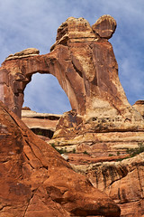 Vertical Look at Angel Arch (jpmckenna - Alberta and Saskatchwan Next) Tags: utah arch hiking backpacking canyonlandsnationalpark canyonlands saltcreek getoutside angelarch needlestraverse