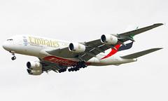 A6-EDY (a) 01/07/13 Heathrow (EGLL) (Lowflyer1948) Tags: heathrow emirates airbus 010713 cranford a380861 a6edy